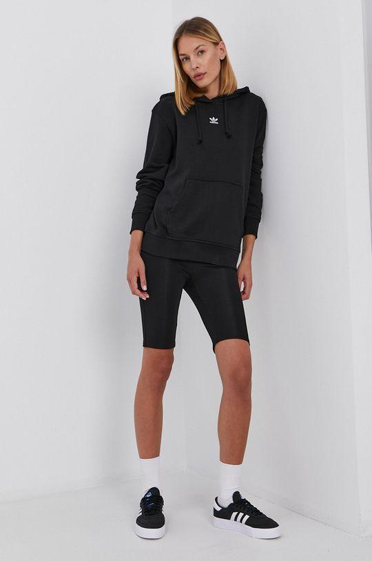 negru adidas Originals - Hanorac de bumbac