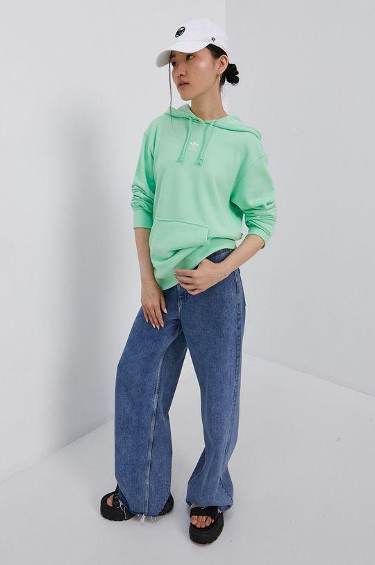 adidas Originals - Bavlněná mikina světle zelená