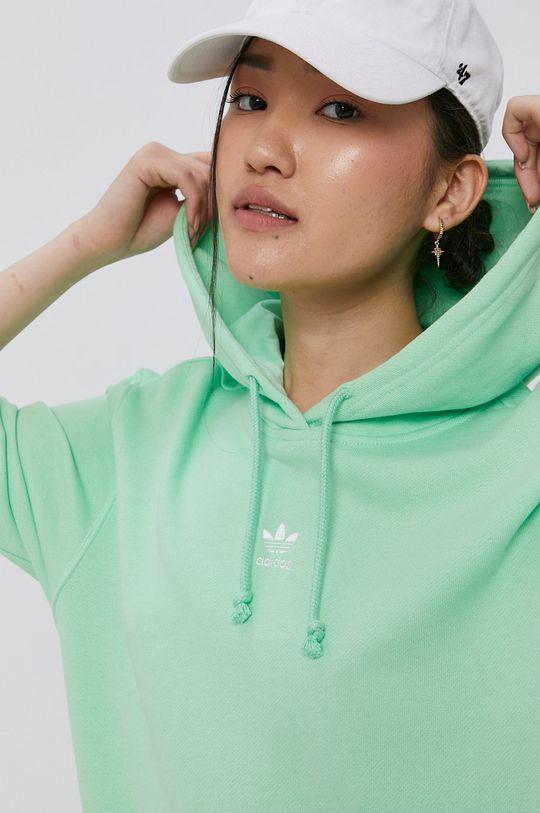 světle zelená adidas Originals - Bavlněná mikina