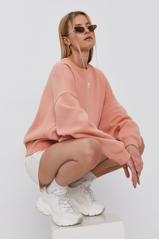 czerwony róż adidas Originals - Bluza Damski
