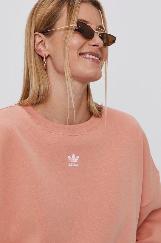 czerwony róż adidas Originals - Bluza