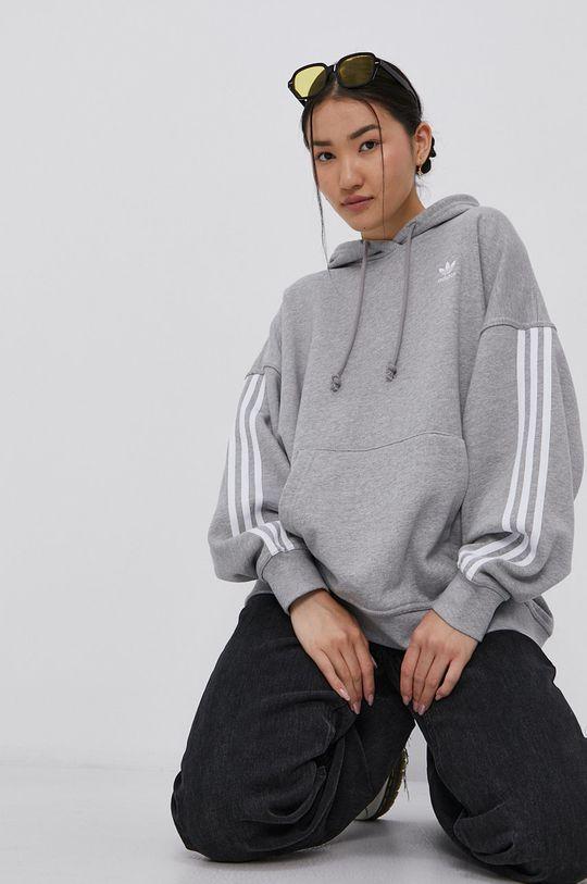 šedá adidas Originals - Bavlněná mikina Dámský