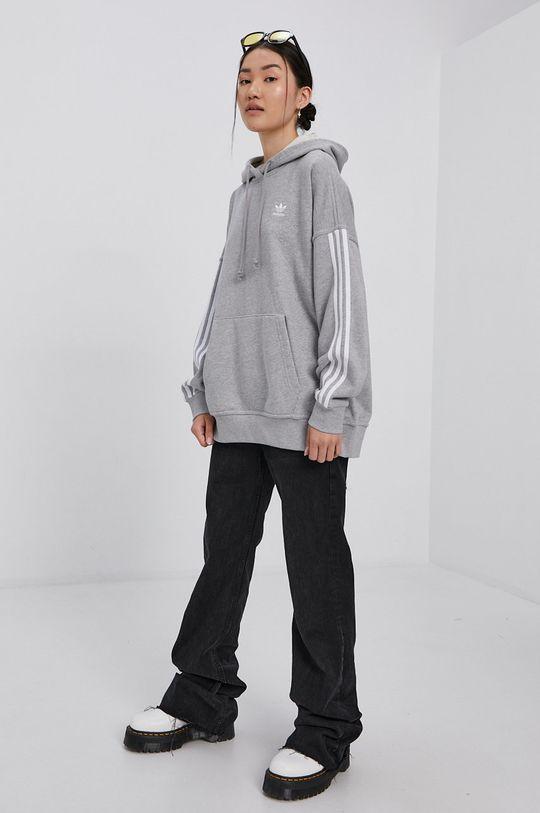 adidas Originals - Bavlněná mikina šedá