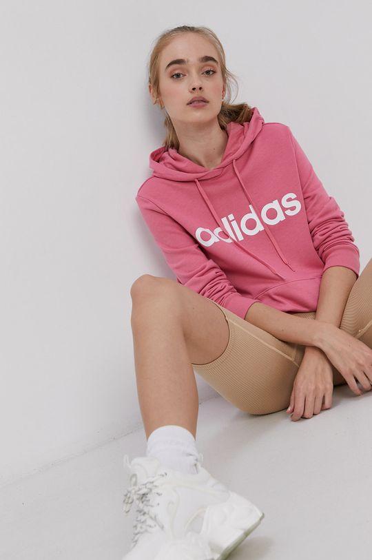 fialovo-růžová adidas - Mikina