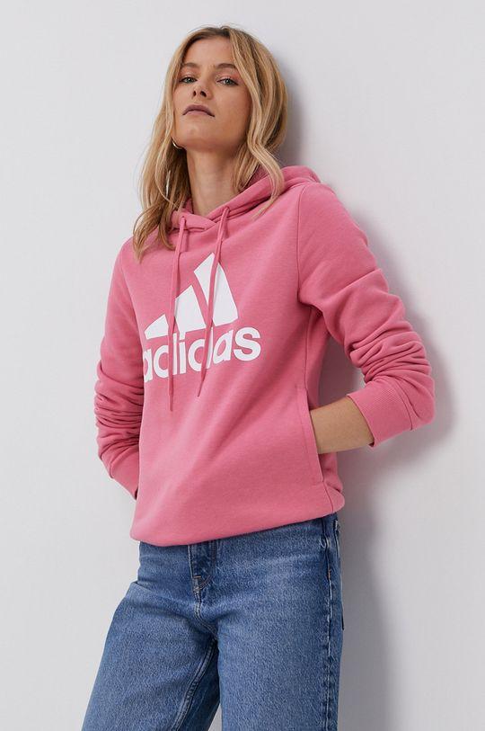 fialovo-růžová adidas - Mikina Dámský