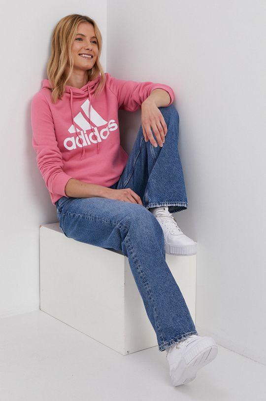 adidas - Mikina fialovo-růžová