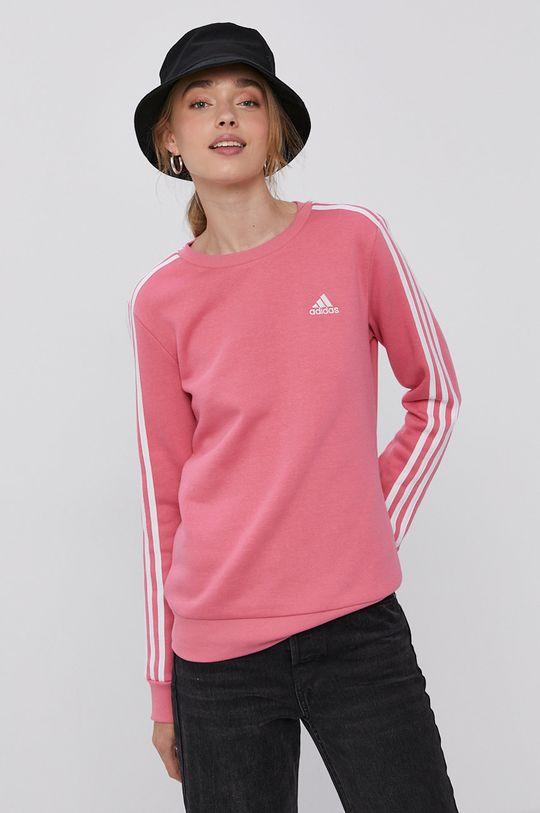 růžová adidas - Mikina