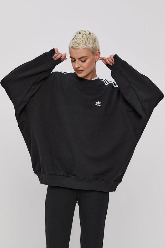 čierna adidas Originals - Bavlnená mikina Dámsky