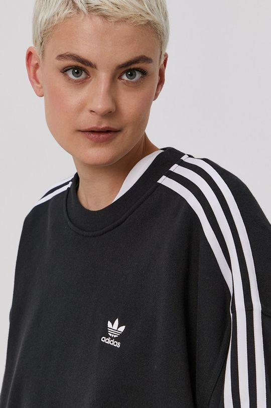čierna adidas Originals - Bavlnená mikina