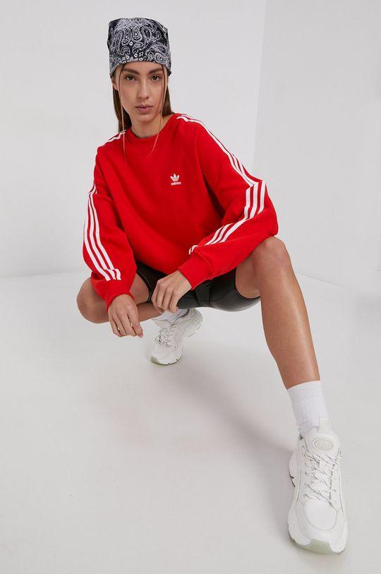 rosu adidas Originals - Hanorac de bumbac De femei