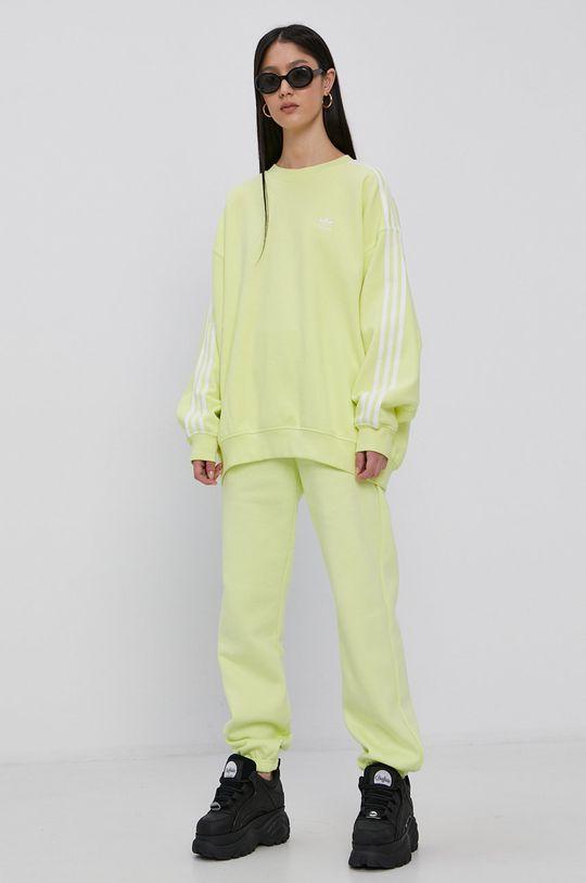 jasny żółty adidas Originals - Bluza bawełniana Damski