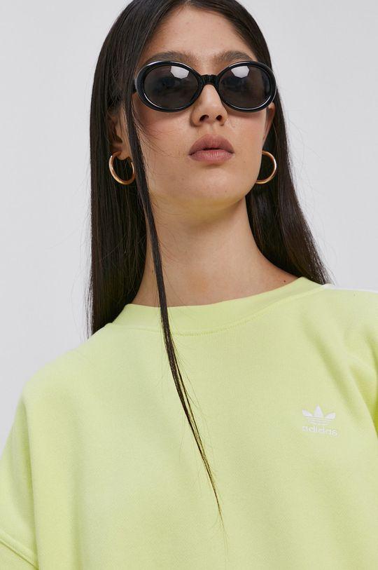 jasny żółty adidas Originals - Bluza bawełniana