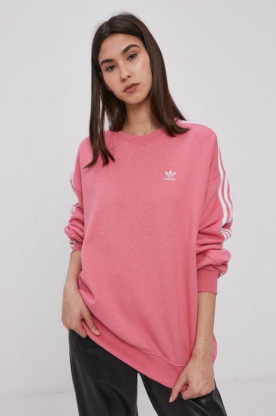 różowy adidas Originals - Bluza bawełniana Damski