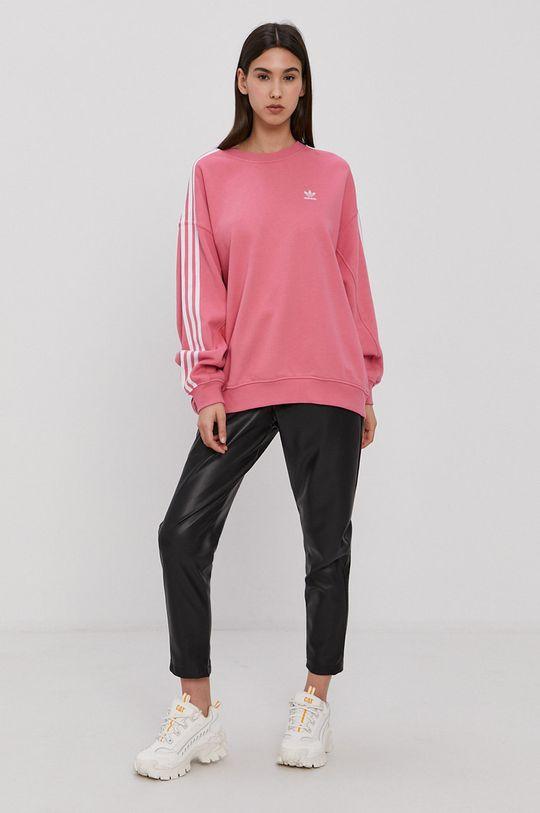 różowy adidas Originals - Bluza bawełniana