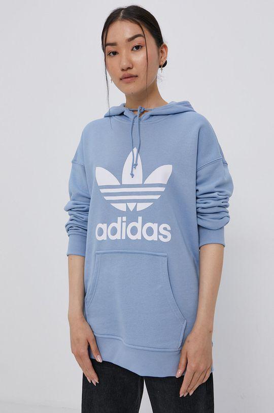 světle modrá adidas Originals - Bavlněná mikina Dámský