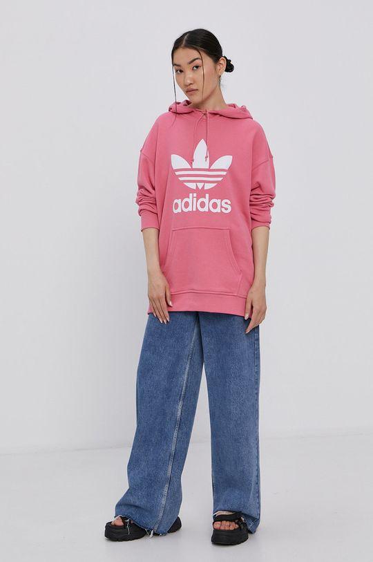růžová adidas Originals - Bavlněná mikina Dámský