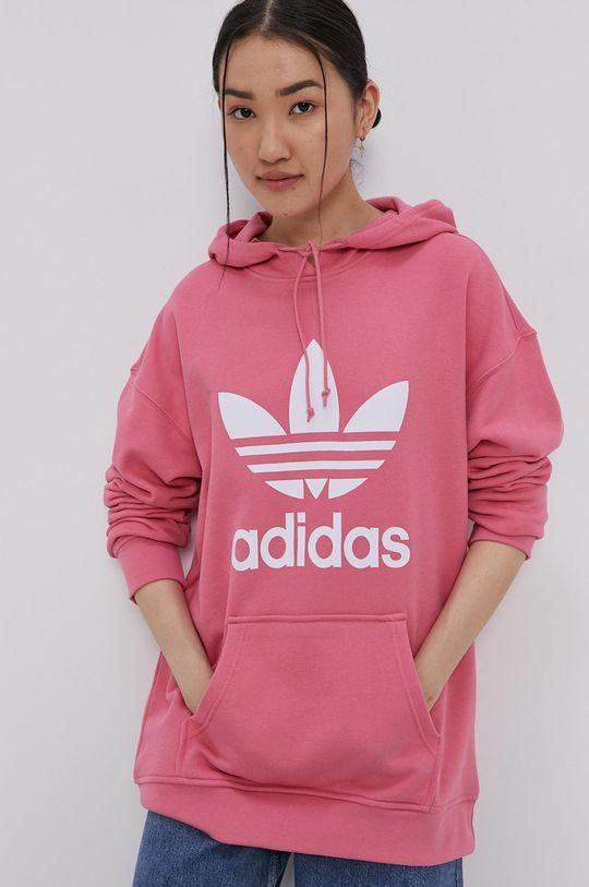 adidas Originals - Bavlněná mikina růžová