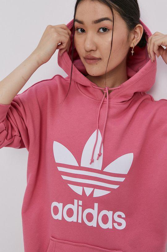 růžová adidas Originals - Bavlněná mikina