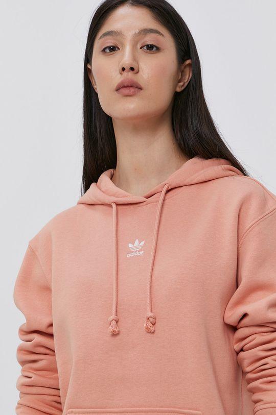 broskvová adidas Originals - Mikina Dámský