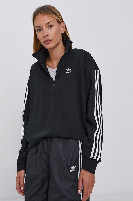 czarny adidas Originals - Bluza bawełniana Damski
