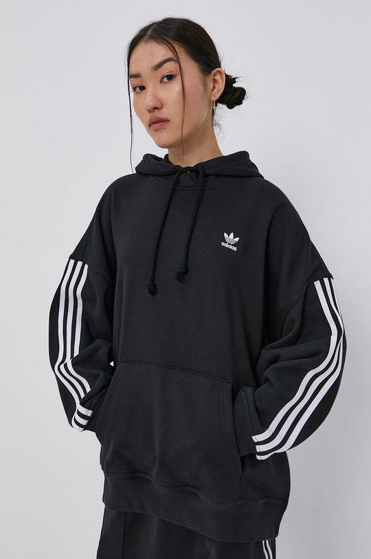 černá adidas Originals - Bavlněná mikina Dámský