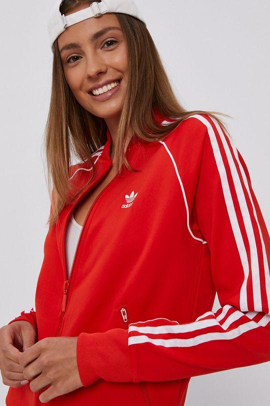czerwony adidas Originals - Bluza