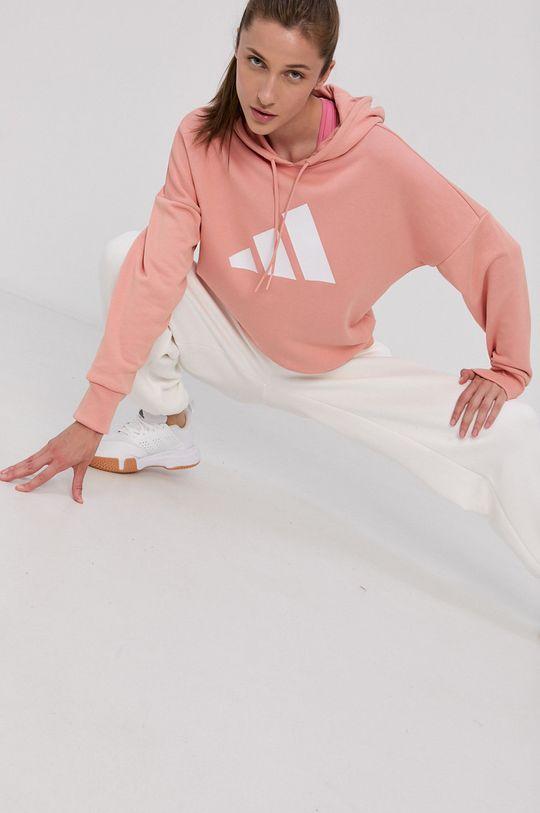 broskvová adidas Performance - Mikina Dámský