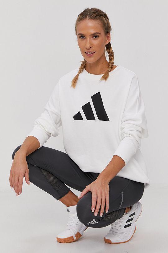 biały adidas Performance - Bluza Damski