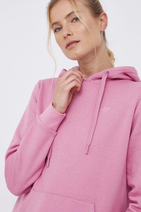 różowy 4F - Bluza