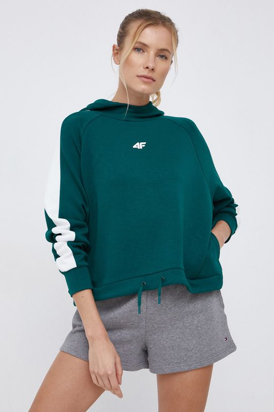 ciemny zielony 4F - Bluza Damski