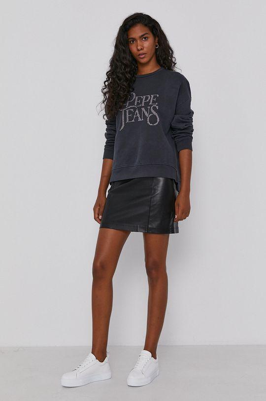 Pepe Jeans - Bluza bawełniana Evita szary