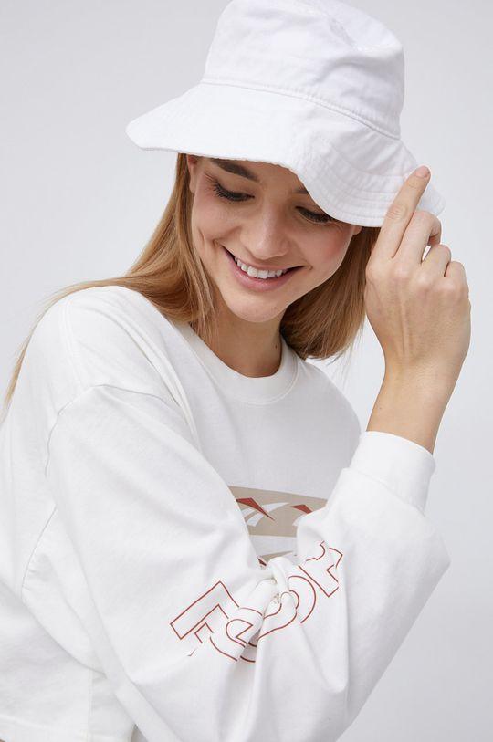 smetanová Reebok Classic - Bavlněné tričko s dlouhým rukávem