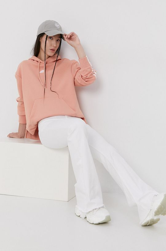 pastelowy różowy adidas - Bluza Damski