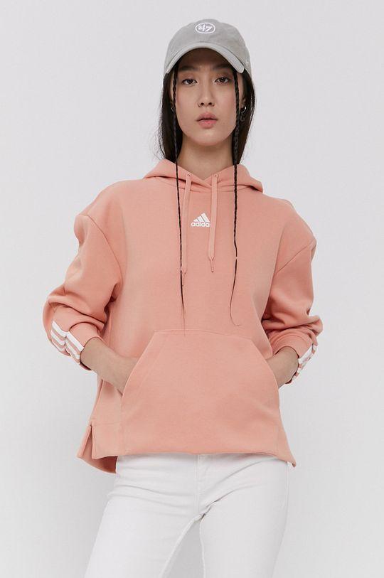 adidas - Bluza pastelowy różowy