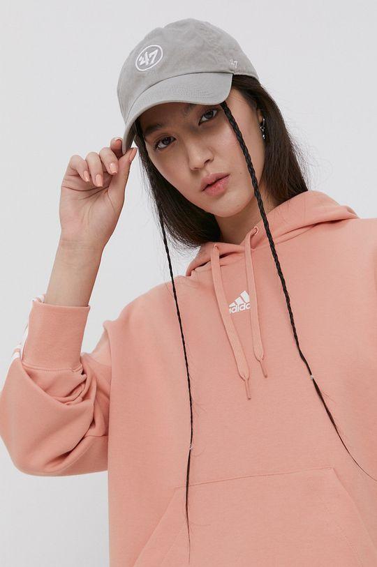 pastelowy różowy adidas - Bluza