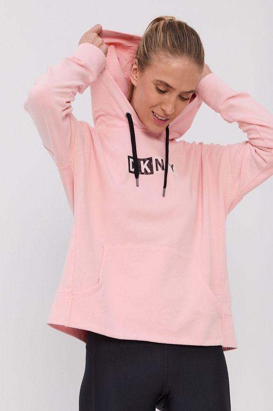 pastelowy różowy Dkny - Bluza bawełniana