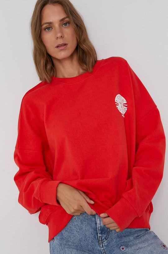 czerwony Wrangler - Bluza bawełniana Damski