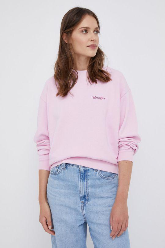 różowy Wrangler - Bluza bawełniana Damski