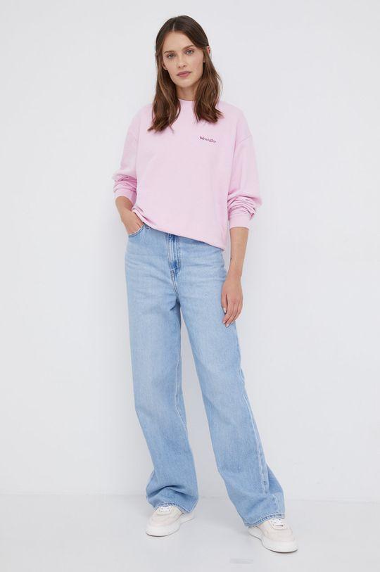 Wrangler - Bluza bawełniana różowy