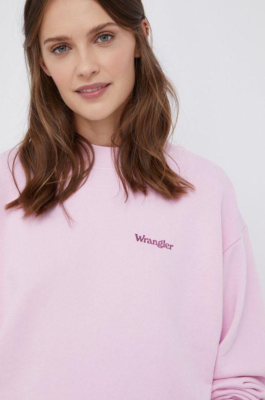 różowy Wrangler - Bluza bawełniana