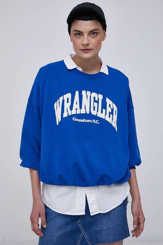 niebieski Wrangler - Bluza bawełniana