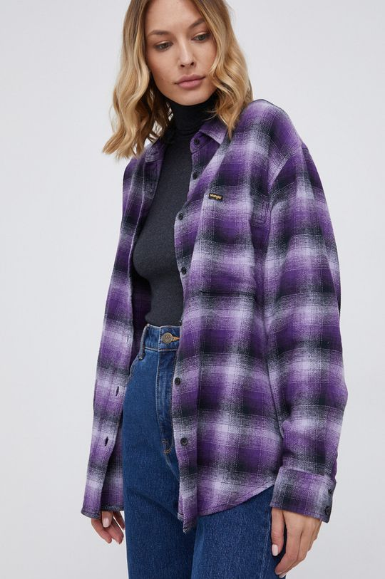 purpurowy Wrangler - Koszula bawełniana Damski