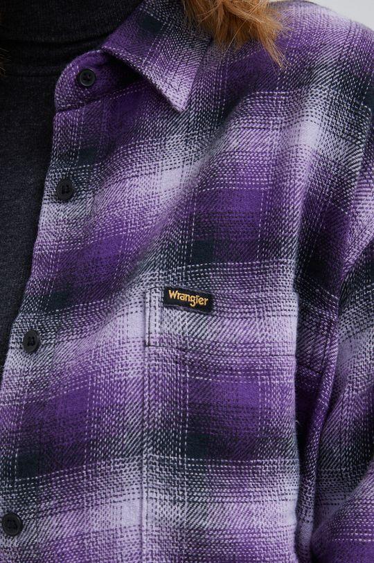 Wrangler - Koszula bawełniana purpurowy