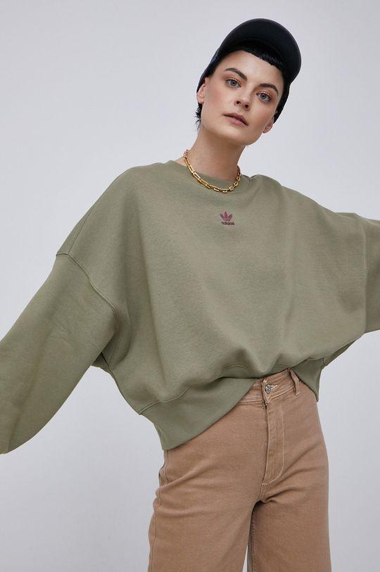 adidas Originals - Bluza brudny zielony