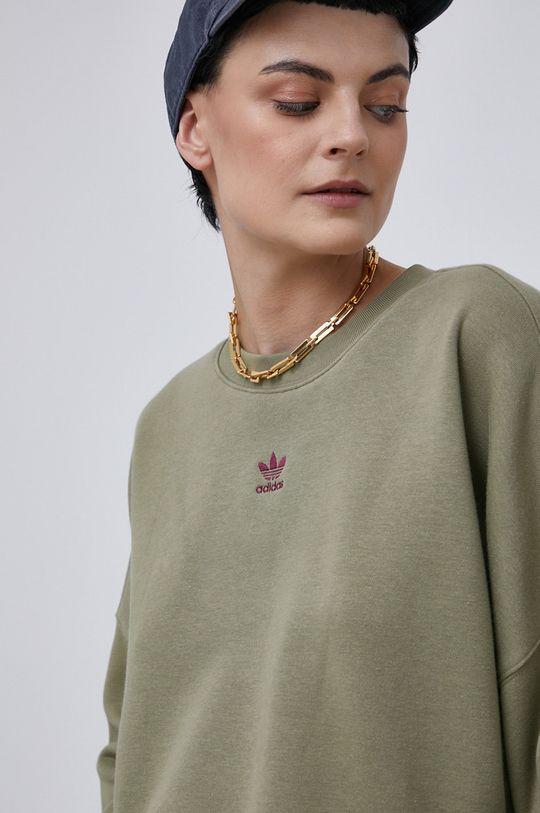 brudny zielony adidas Originals - Bluza