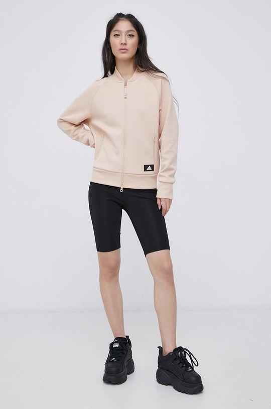 pastelowy różowy adidas Performance - Bluza Damski