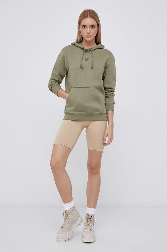 adidas Originals - Mikina tlumená zelená