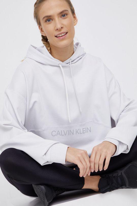 jasny szary Calvin Klein Performance - Bluza Damski