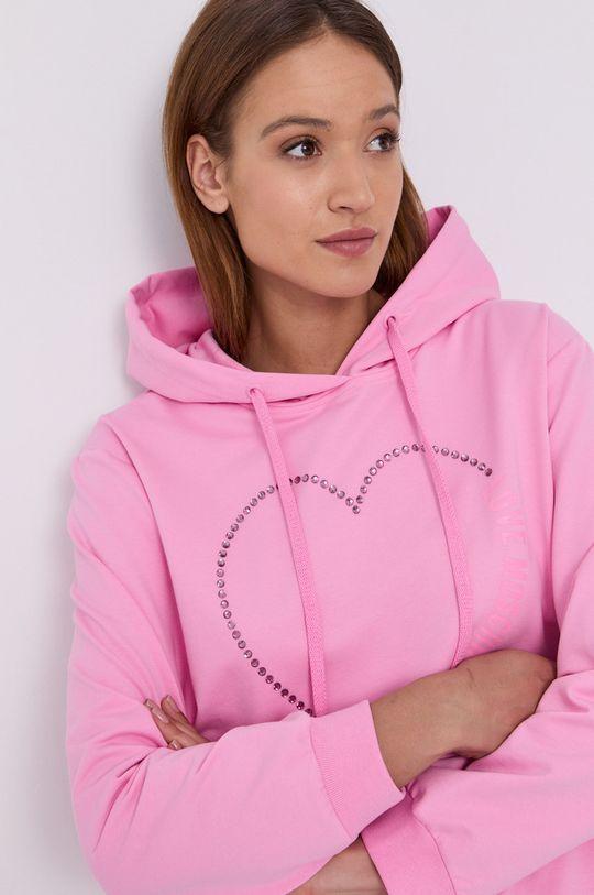 růžová Love Moschino - Mikina