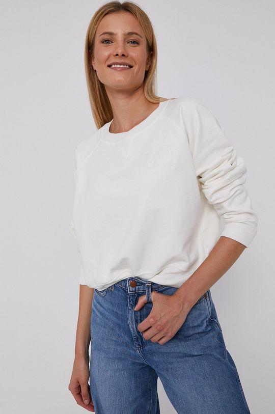 Lee - Bluza bawełniana biały